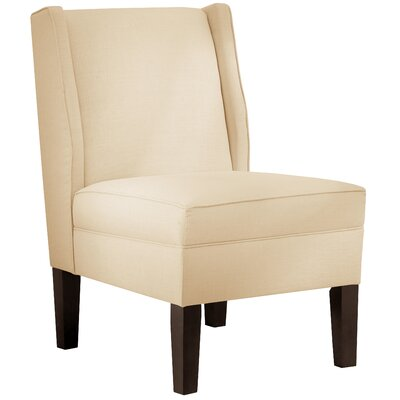 Wingback Chair Upholstery: Twill Natural