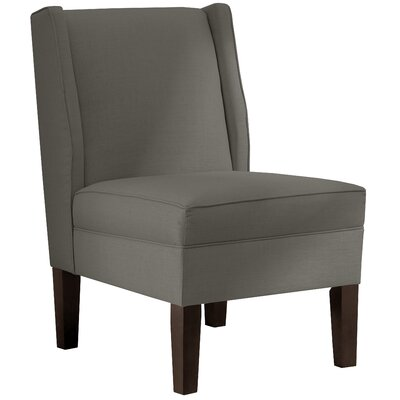 Wingback Chair Upholstery: Twill Grey