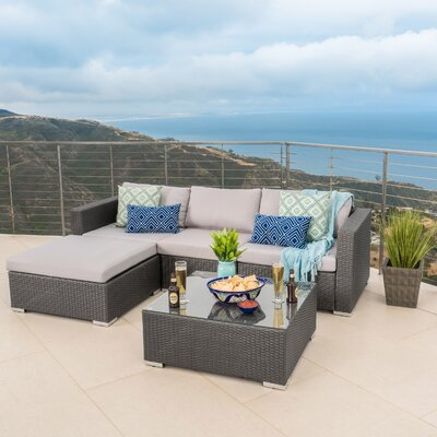 Murillo 5 Piece Seating Group Finish: Silver Gray