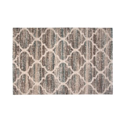 Teasley Blue/Brown/Tan Area Rug Rug Size: 710 x 112