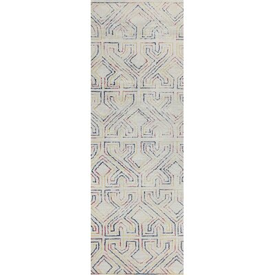 Fort Hamilton Hand-Tufted Ivory Area Rug Rug Size: Runner 2'6