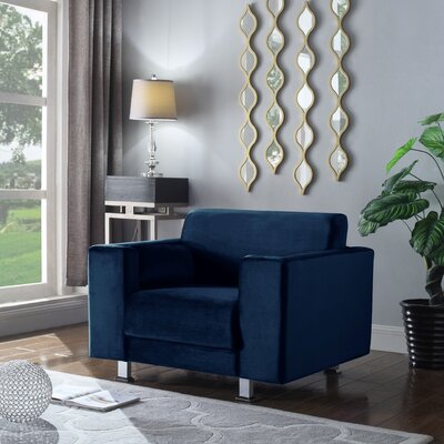 Woosley Armchair Upholstery: Navy