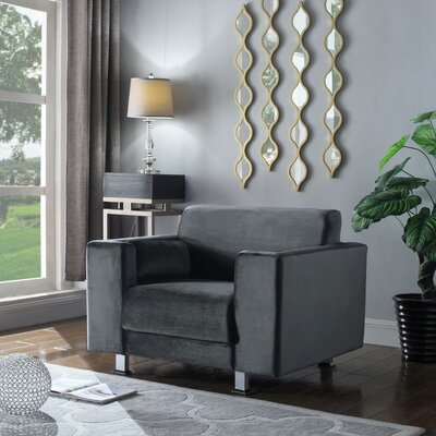 Woosley Armchair Upholstery: Gray