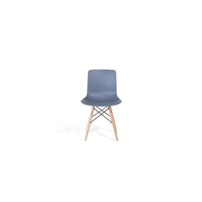 Bobbitt Solid Wood Dining Chair (Set of 4) Upholstery: Grey