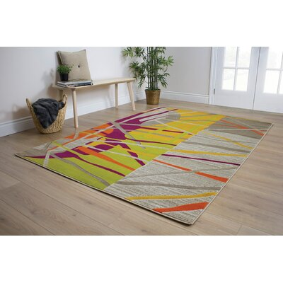 Caster Abstract Texture Area Rug Rug Size: 53 x 77