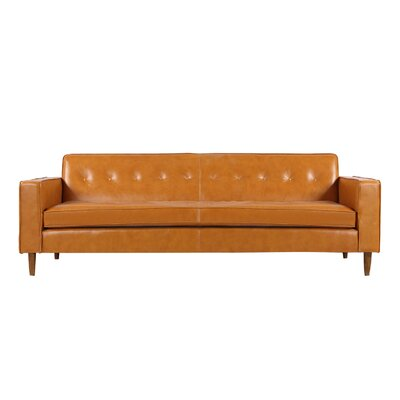 Potter Top Grain Leather Sofa Upholstery: Tan