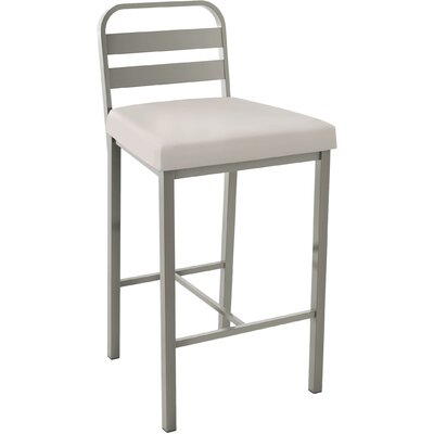 Prescott 30.13 Bar Stool Upholstery: Matte Light Grey/Beige