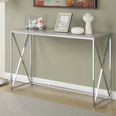 Carrollton Console Table Finish: Weathered White