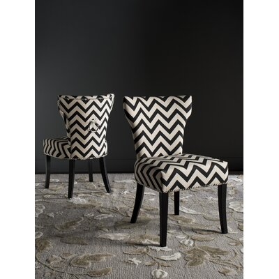 Kriebel Ring Side Chair Finish: Black / White