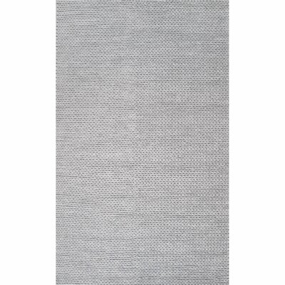 Makenzie Woolen Cable Hand-Woven Light Gray Area Rug Rug Size: Rectangle 10 x 14