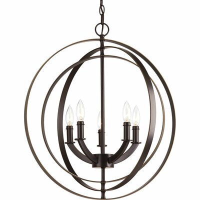 Morganti 5-Light Globe Pendant Finish: Antique Bronze