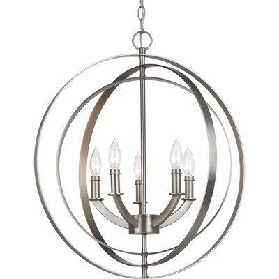 Morganti 5-Light Globe Pendant Finish: Burnished Silver