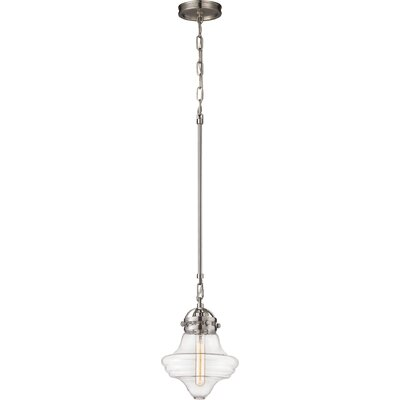 Manzo 1-Light Schoolhouse Pendant Finish: Satin Nickel
