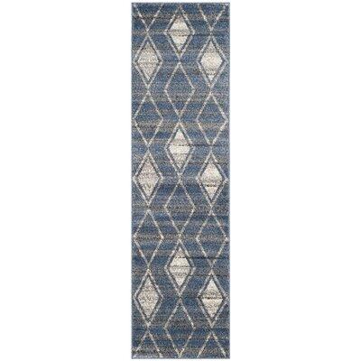 Electra Blue Area Rug Rug Size: Runner 23 x 8