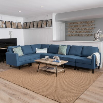 Swick Modular Sectional Upholstery: Dark Blue