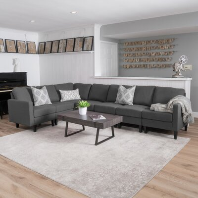 Swick Modular Sectional Upholstery: Dark Gray