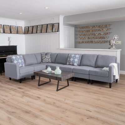Swick Modular Sectional Upholstery: Light Gray