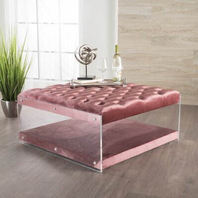 Terria Cocktail Ottoman Upholstery: Blush