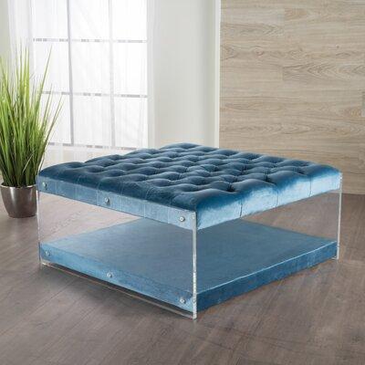 Terria Ottoman Upholstery: Aqua