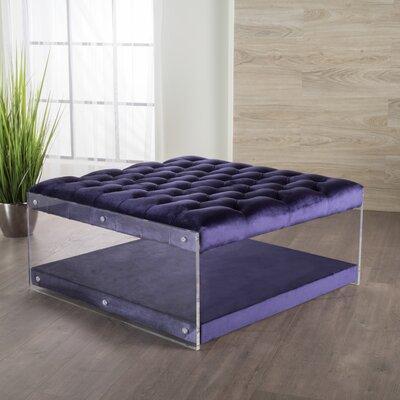 Terria Ottoman Upholstery: Plum