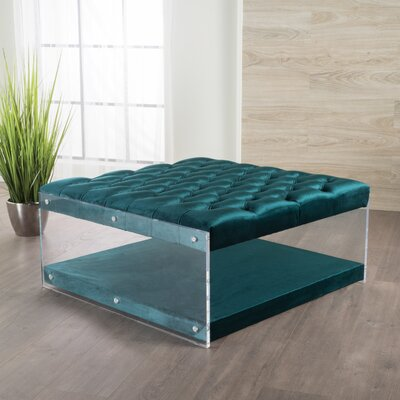Terria Cocktail Ottoman Upholstery: Teal