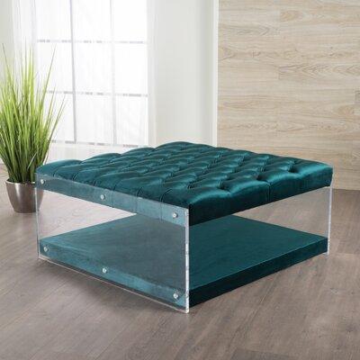Terria Ottoman Upholstery: Teal