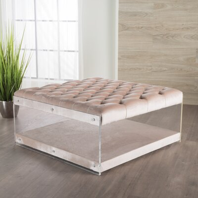 Terria Cocktail Ottoman Upholstery: Champagne
