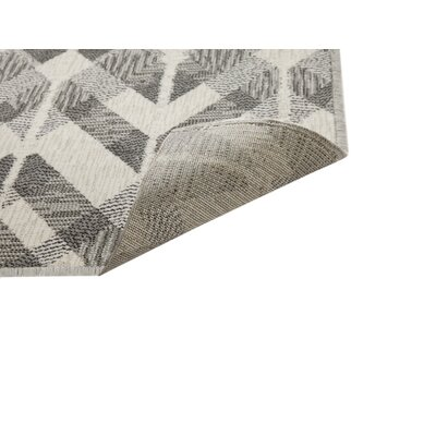 Foulds Silver-Grey/Charcoal/White Area Rug Rug Size: 710 x 112