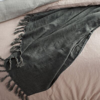 Feingold Linen Throw Color: Charcoal Gray
