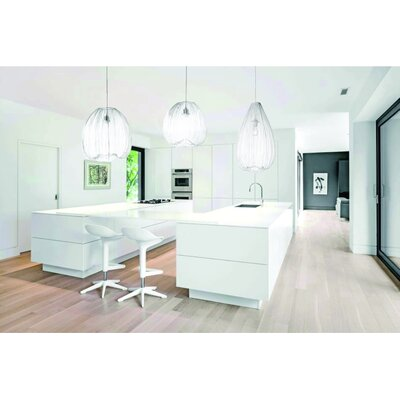 Pennell 1-Light Globe Pendant Shade Color: White