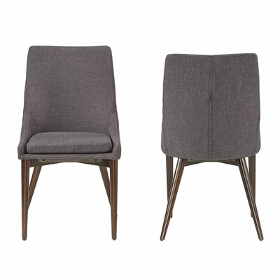 Cleland Parsons Chair Upholstery: Dark Grey
