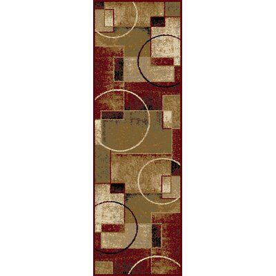 Hartle Red/Ivory Area Rug Rug Size: Runner 27 x 73