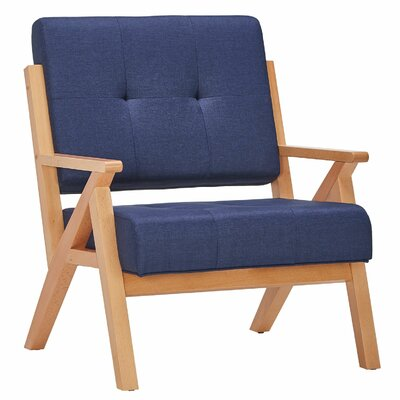 Derouen Armchair Upholstery: Twilight Blue