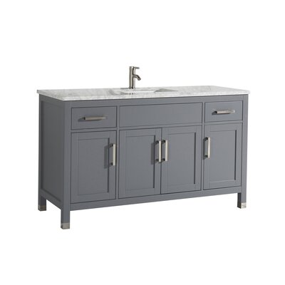 Peralez Modern 60 Single Bathroom Vanity Set Base Finish: Gray