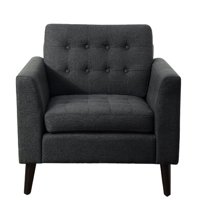 Starner Tufted Armchair Upholstery: Charcoal