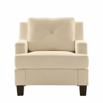 Darion Armchair Color: White