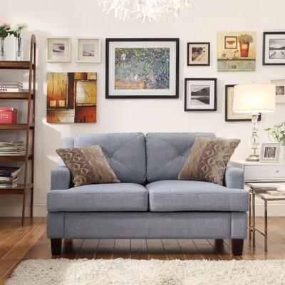 Darion Loveseat Upholstery: Blue