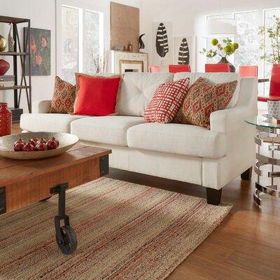 Darion Sofa Upholstery: White