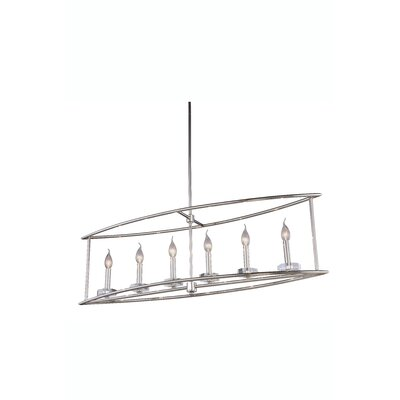 Simental Transitional 6-Light Kitchen Island Pendant Finish: Polished Nickel