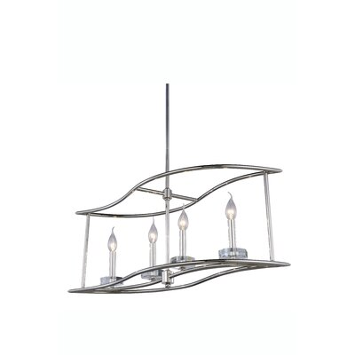 Simental Transitional 4-Light Kitchen Island Pendant Finish: Polished Nickel