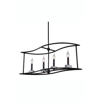 Simental Transitional 4-Light Kitchen Island Pendant Finish: Vintage Bronze