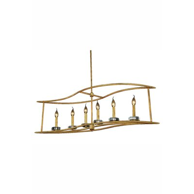 Simental 6-Light Kitchen Island Pendant Finish: Golden Iron