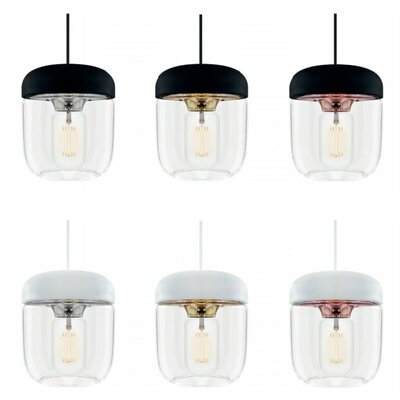Upper Strode 1-Light Mini Pendant Finish: Polished Copper, Base Finish: White