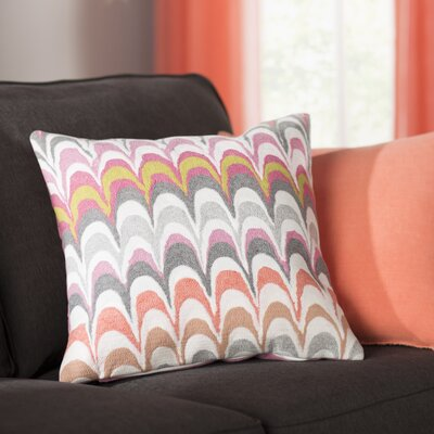 Tengan Floating Ink Throw Pillow Color: Pink