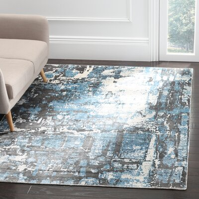 Maxim Hand Woven Blue Area Rug Rug Size: Rectangle 5 x 8