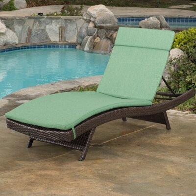 Ferrara Lounge with Cushion Color: Jungle Green