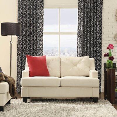 Darion Loveseat Upholstery: White
