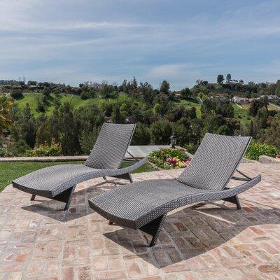 Gadbois Adjustable Chaise Lounge Finish: Gray