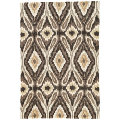 Benninger Hand-Woven Brown Area Rug Rug Size: 2 x 3