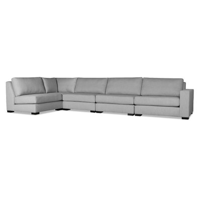 Brose L-Shape Upholstered Modular Sectional Upholstery: Gray